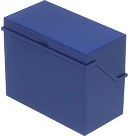 helit Karteikasten, A7q, 120x73x94mm, für: 300 Karten, blau