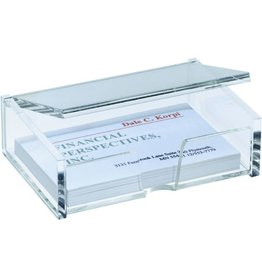 sigel Visitenkartenbox, 98 x 68 x 29 mm, für: 80 Karten, transparent