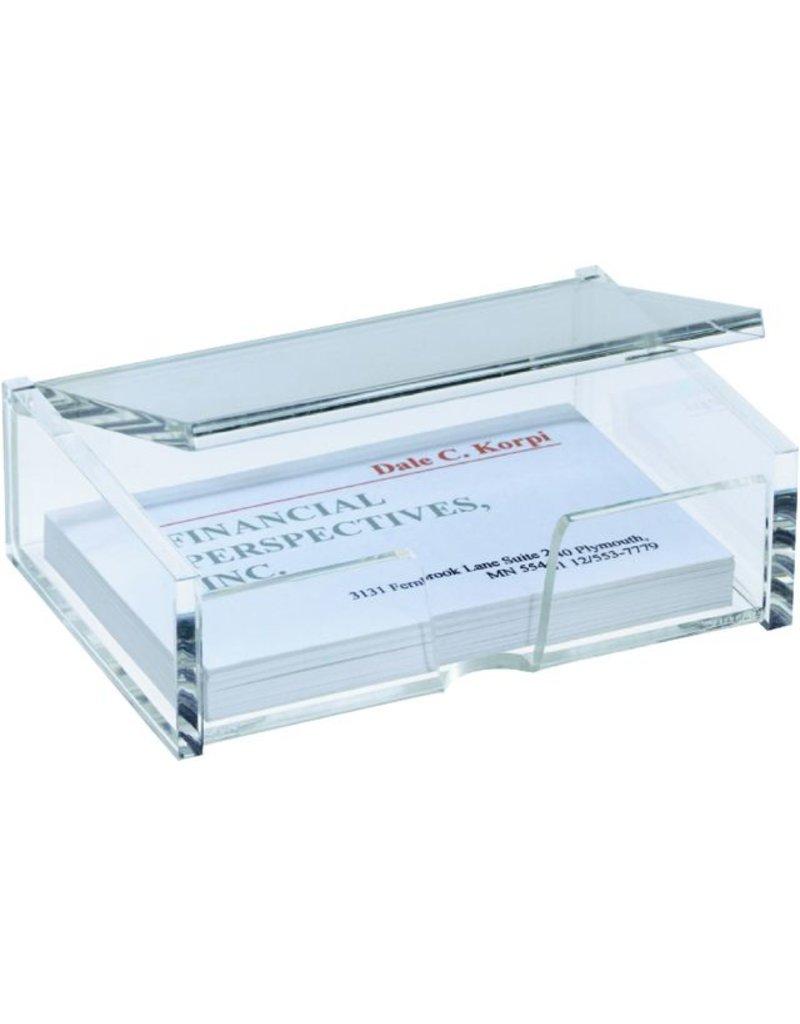 Sigel Visitenkartenbox 98 X 68 X 29 Mm Für 80 Karten Transparent