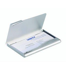 DURABLE Visitenkartenbox, Alu, für: 20 Karten, Kartengröße: 90x55mm, silb