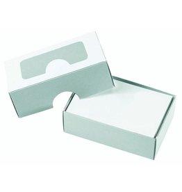 PAPYRUS Visitenkartenbox, Karton, 90 x 60 x 30 mm, für: 100 Karten, weiß