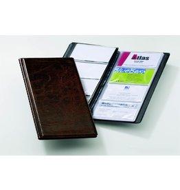 DURABLE Visitenkartenmappe VISIFIX®, 11,5x25,3cm, für: 96 Karten, braun