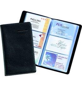 sigel Visitenkartenmappe, für: 120 Karten, schwarz, matt