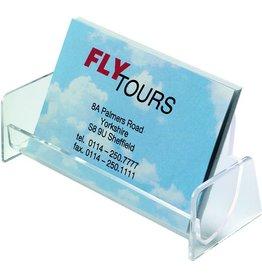 sigel Visitenkartenständer, 102x47x39mm, für: 50 Karten, tr