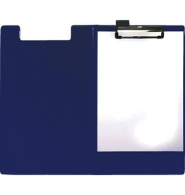 STAPLES Klemmblockmappe, Klemme kurze Seite, A4, 24 x 35 cm, blau