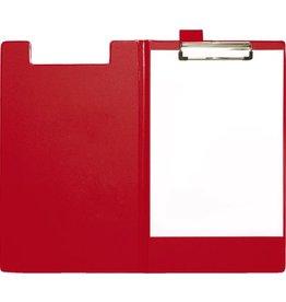 STAPLES Klemmblockmappe, Klemme kurze Seite, A4, 24 x 35 cm, rot