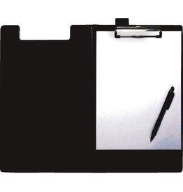 STAPLES Klemmblockmappe, Klemme kurze Seite, A4, 24 x 35 cm, schwarz