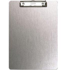 STAPLES Schreibplatte, Aluminium, Klemme kurze Seite, A4, graumetallic