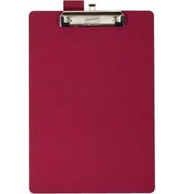 STAPLES Schreibplatte, folienkaschiert, Klemme kurze Seite, A4, rot