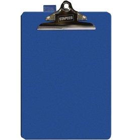 STAPLES Schreibplatte, PP, Klemme kurze Seite, A4, 23,5 x 35,5 cm, blau