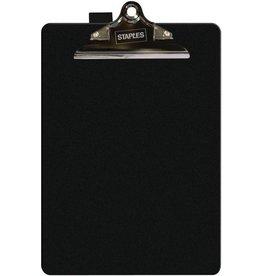 STAPLES Schreibplatte, PP, Klemme kurze Seite, A4, 23,5 x 35,5 cm, schwarz