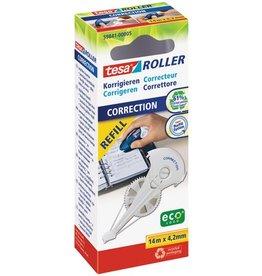 tesa Korrekturrollernachfüllkassette ecoLogo®, 4,2mmx14m, 1z., weiß