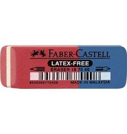 FABER-CASTELL Radierer 187040, für: Blei-/Farbstifte/Tinte, 56 x 20 x 7 mm, rot/blau