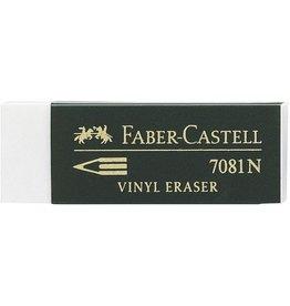 FABER-CASTELL Radierer 7081 N, Kst., für: Blei-/Farbstifte, 63x22x12mm, weiß