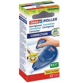 tesa Korrekturroller ecoLogo®, Einw., 4,2mmx10m, weiß, blau, tr