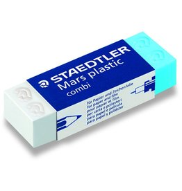 STAEDTLER Radierer Mars® plastic combi, Kunststoff, 65 x 23 x 13 mm, blau/weiß