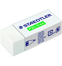 STAEDTLER Radierer PVC-free, mit Kunststoffhülle, PP, 43x19x13mm, weiß