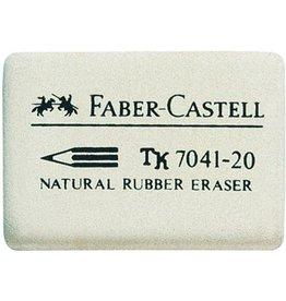 FABER-CASTELL Radierer, 7041-20, rechte., Naturkautsch., 40x27x13mm, weiß