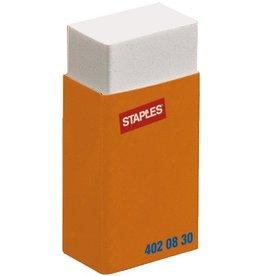 STAPLES Radierer, mit Schutzhülle, Kst., für: Bleistifte, 40x18x10mm, weiß
