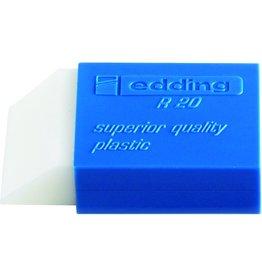 edding Radierer, R20, rechte., Kst., für: Bleistifte, 44x24x11,5mm, weiß