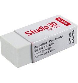 ARISTO Radierer, Studio 30, mit Kartonhülle, 41 x 17 x 12 mm, weiß