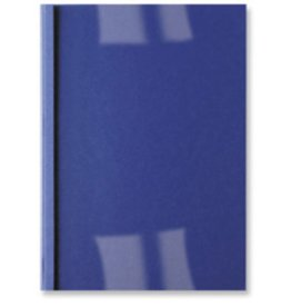 GBC Thermobindemappe LeatherGrain, transp.Vorderd., A4, 1,5 mm, dunkelblau