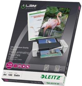 LEITZ Laminiertasche, A4, 216x303mm, 0,125mm, farblos, matt