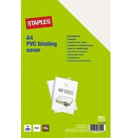 STAPLES Umschlagmaterial, PVC, 0,2 mm, A4, farbl., transparent