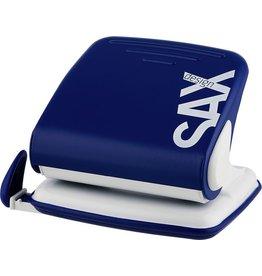 SAX Locher 418 L, mechanisch, mit Anschlagschiene, 30 Blatt, 3 mm, blau