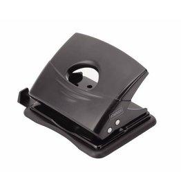 STAPLES Locher, mit Anschlagschiene, 18 Blatt, 1,8 mm, schwarz