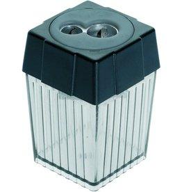 ALCO Spitzer, Metall, mit Behälter, 2fach, Stift-Ø: 7,8 / 11 mm, schwarz