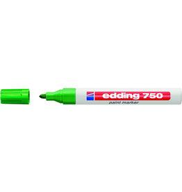 edding Lackmarker, 750, Rundspitze, 2-4mm, Schreibf.: grün