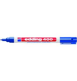 edding Permanentmarker 400, Rundspitze, 1 mm, Schreibf.: blau