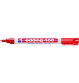 edding Permanentmarker 400, Rundspitze, 1 mm, Schreibf.: rot