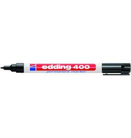edding Permanentmarker 400, Rundspitze, 1 mm, Schreibf.: schwarz