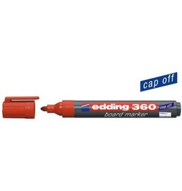 edding Boardmarker 360, Rundspitze, 1,5 - 3 mm, Schreibf.: rot