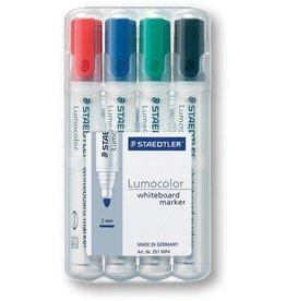 STAEDTLER Boardmarker Lumocolor® 351, Rundspitze, 2 mm, Schreibf.: 4er sortiert