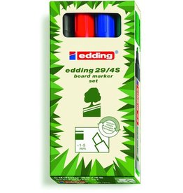 edding Boardmarker, 29, Ksp., 1-5mm, Schreibf.: 4er so