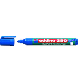 edding Flipchartmarker 380, Rundspitze, 1,5 - 3 mm, Schreibf.: blau