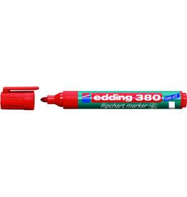 edding Flipchartmarker 380, Rundspitze, 1,5 - 3 mm, Schreibf.: rot