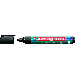 edding Flipchartmarker 383, Keilspitze, 1 - 5 mm, Schreibf.: schwarz