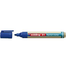 edding Flipchartmarker, EcoLine 31, Rsp., 1,5 - 3 mm, Schreibf.: blau