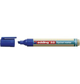 edding Flipchartmarker, EcoLine 32, Ksp., 1 - 5 mm, Schreibf.: blau
