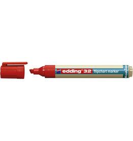 edding Flipchartmarker, EcoLine 32, Ksp., 1 - 5 mm, Schreibf.: rot