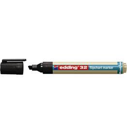 edding Flipchartmarker, EcoLine 32, Ksp., 1 - 5 mm, Schreibf.: schwarz