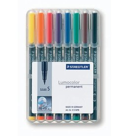 STAEDTLER OH-Stift, Lumocolor® 313, S, perm., 0,4 mm, Schreibf.: 8er so