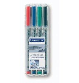 STAEDTLER OH-Stift, Lumocolor® 315, M, non-perm., 1 mm, Schreibf.: 4er so