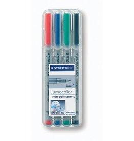 STAEDTLER OH-Stift, Lumocolor® 316, F, non-perm., 0,6 mm, Schreibf.: 4er so