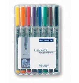 STAEDTLER OH-Stift, Lumocolor® 316, F, non-perm., 0,6 mm, Schreibf.: 8er so