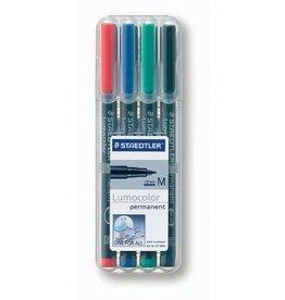 STAEDTLER OH-Stift, Lumocolor® 317, M, perm., 1 mm, Schreibf.: 4er so